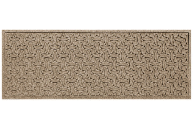 "Home Accents Aqua Shield 1'10"" x 4'11"" Ellipse Runner, Beige, large"