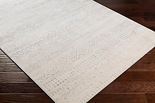 """Global Area Rug 5'3"""" x 7'1"""" Rug, Two-tone Gray/White, large"""
