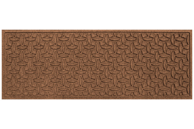 "Home Accents Aqua Shield 1'10"" x 4'11"" Ellipse Runner, Brown, large"