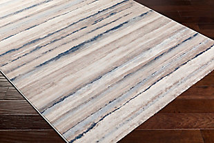 "Modern Area Rug 5'3"" x 7'1"" Rug, Two-tone Gray/White, rollover"