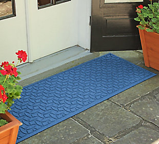 "Home Accents Aqua Shield 1'10"" x 4'11"" Ellipse Runner, Red, rollover"