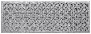 "Home Accents Aqua Shield 1'10"" x 4'11"" Ellipse Runner, Gray, large"