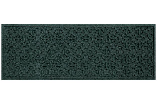 "Home Accents Aqua Shield 1'10"" x 4'11"" Ellipse Runner, Green, large"