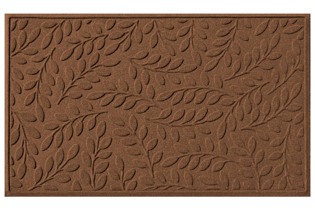 Home Accents Aqua Shield 3' x 5' Brittany Leaf Estate Mat, Brown, large