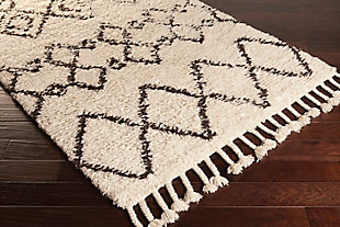 "Global Area Rug 5' x 7'6"" Rug, Dark Brown/Cream, rollover"