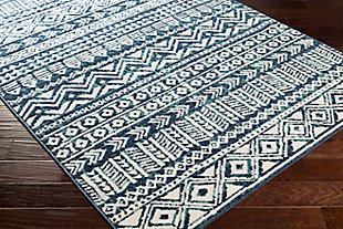 "Global Area Rug 5'3"" x 7'3"" Rug, Navy/Teal/White, rollover"