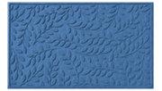 Home Accents Aqua Shield 3' x 5' Brittany Leaf Estate Mat, Blue, large