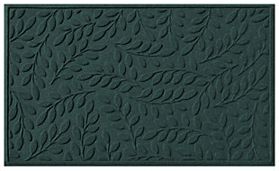 Home Accents Aqua Shield 3' x 5' Brittany Leaf Estate Mat, Green, large