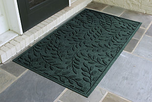 Home Accents Aqua Shield 3' x 5' Brittany Leaf Estate Mat, Green, rollover
