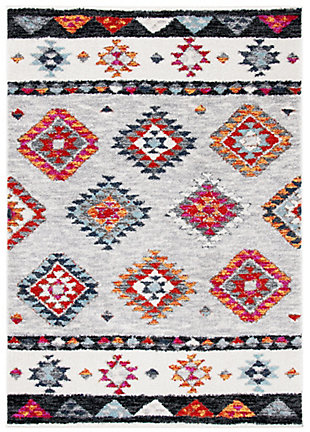 "Safavieh Adirondack 5'1"" X 7'6"" Area Rug, Gray/Red, large"