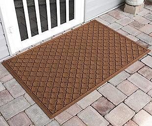 "Home Accents Aqua Shield 34"" x 52"" Cordova Estate Mat, Brown, large"