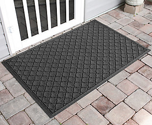 "Home Accents Aqua Shield 34"" x 52"" Cordova Estate Mat, Gray, rollover"