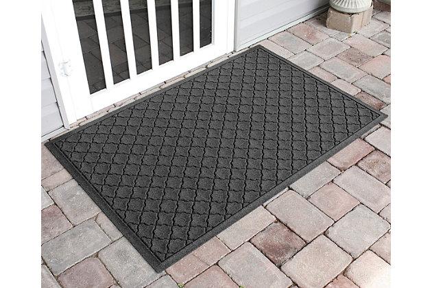 "Home Accents Aqua Shield 34"" x 52"" Cordova Estate Mat, Gray, large"