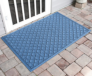 "Home Accents Aqua Shield 34"" x 52"" Cordova Estate Mat, Blue, large"