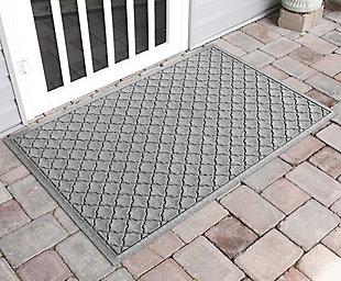 """Home Accents Aqua Shield 34"""" x 52"""" Cordova Estate Mat, Gray, rollover"""