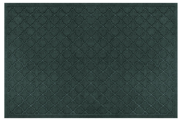 "Home Accents Aqua Shield 34"" x 52"" Cordova Estate Mat, Green, large"