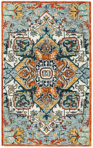 Safavieh Aspen 5' X 8' Area Rug, Blue/Rust, large