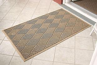 Home Accents Aqua Shield 3' x 5' Diamonds Estate Mat, Beige, large