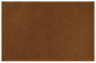 Home Accents Aqua Shield 3' x 5' Diamonds Estate Mat, Brown, large
