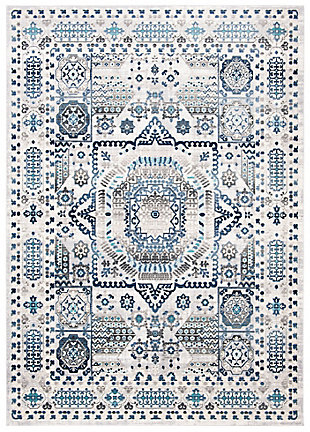 "Safavieh Aria 5'1"" X 7'6"" Area Rug, Gray/Cream, large"