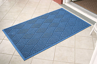 Home Accents Aqua Shield 3' x 5' Diamonds Estate Mat, Blue, large