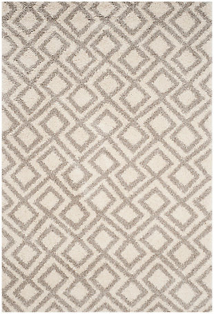 "Safavieh Arizona Shag 5'1"" X 7'6"" Area Rug, Ivory/Beige, large"