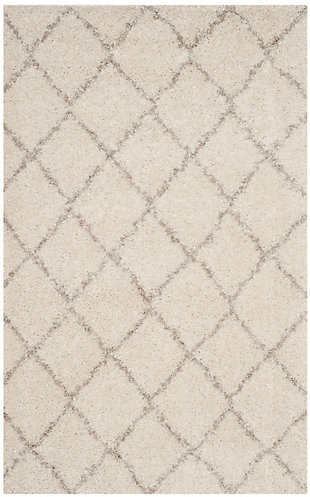 Safavieh Arizona Shag 4' X 6' Area Rug, Ivory/Beige, large