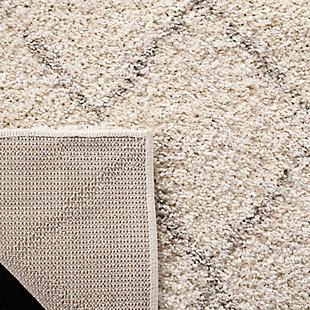 Safavieh Arizona Shag 4' X 6' Area Rug, Ivory/Beige, large