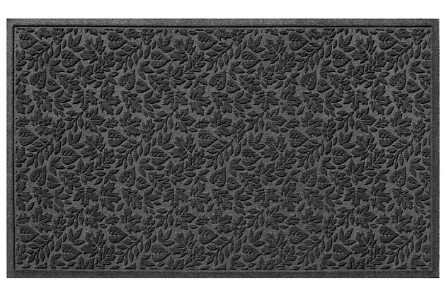 """Home Accents Aqua Shield 32"""" x 57"""" Fall Day Estate Mat, Brown, large"""