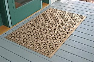 Home Accents Aqua Shield 3' x 5' Ellipse Estate Mat, Beige, large
