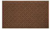 Home Accents Aqua Shield 3' x 5' Ellipse Estate Mat, Brown, large
