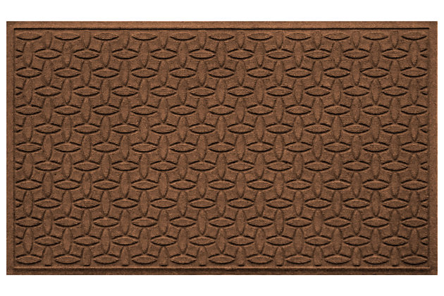 Home Accents Aqua Shield 3' x 5' Ellipse Estate Mat, Brown, large