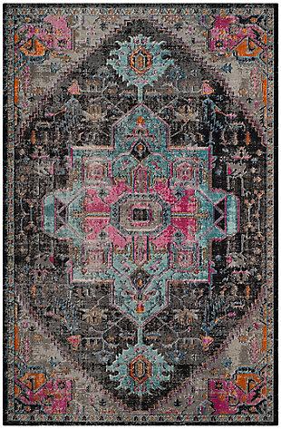 """Safavieh Artisan 5'1"""" X 7'6"""" Area Rug, Black/Light Gray, large"""