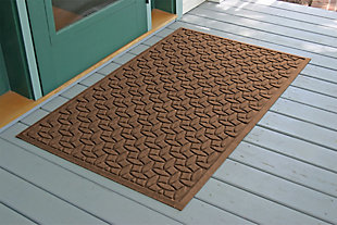 Home Accents Aqua Shield 3' x 5' Ellipse Estate Mat, Brown, rollover
