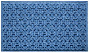 Home Accents Aqua Shield 3' x 5' Ellipse Estate Mat, Blue, large