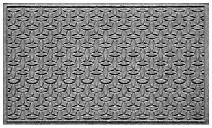 Home Accents Aqua Shield 3' x 5' Ellipse Estate Mat, Gray, large