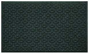 Home Accents Aqua Shield 3' x 5' Ellipse Estate Mat, Green, large