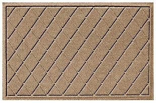 """Home Accents Aqua Shield 1'11"""" x 3' Argyle Indoor/Outdoor Doormat, Beige, large"""