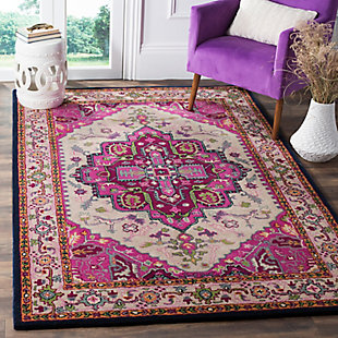 Safavieh Bellagio 5' X 8' Area Rug, Ivory/Pink, rollover
