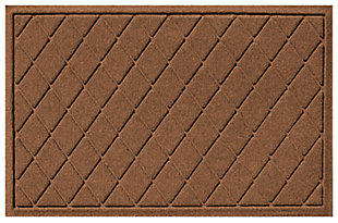 "Home Accents Aqua Shield 1'11"" x 3' Argyle Indoor/Outdoor Doormat, Brown, large"