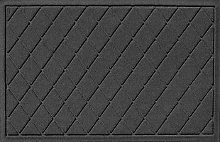 "Home Accents Aqua Shield 1'11"" x 3' Argyle Indoor/Outdoor Doormat, Gray, large"