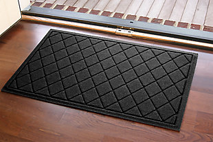 "Home Accents Aqua Shield 1'11"" x 3' Argyle Indoor/Outdoor Doormat, Gray, rollover"