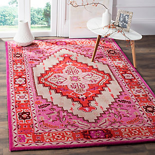 Safavieh Bellagio 5' X 8' Area Rug, Red Pink/Ivory, rollover