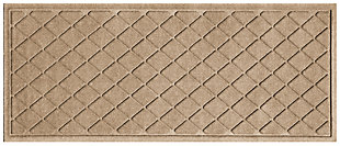 "Home Accents Aqua Shield 1'10"" x 4'11"" Argyle Runner, Beige, large"