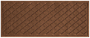 "Home Accents Aqua Shield 1'10"" x 4'11"" Argyle Runner, Brown, large"