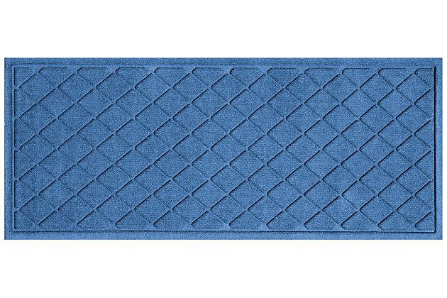 "Home Accents Aqua Shield 1'10"" x 4'11"" Argyle Runner, Blue, large"