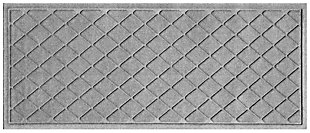 "Home Accents Aqua Shield 1'10"" x 4'11"" Argyle Runner, Charcoal, large"