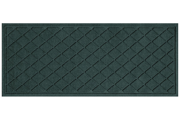 "Home Accents Aqua Shield 1'10"" x 4'11"" Argyle Runner, Green, large"