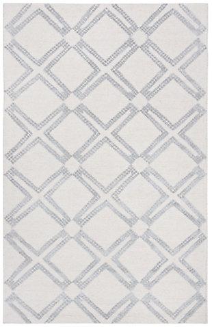 Safavieh Bellagio 5' X 8' Area Rug, Ivory/Silver, large