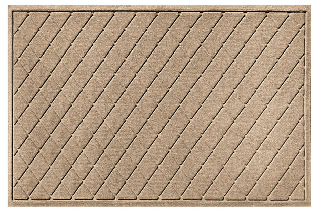 Home Accents Aqua Shield 3' x 5' Argyle Estate Mat, Beige, large